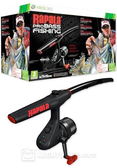 Rapala pro bass fishing xbox 360 unlock lures for Fishing games for xbox 360